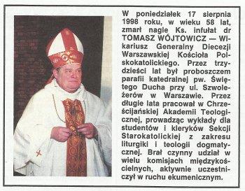 śp. Ks. Tomasz Wójtowicz (1939-1998)